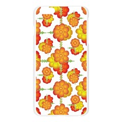 Colorful Stylized Floral Pattern Apple Seamless iPhone 6 Plus/6S Plus Case (Transparent) by dflcprints