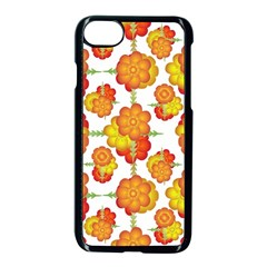 Colorful Stylized Floral Pattern Apple Iphone 7 Seamless Case (black) by dflcprints