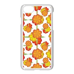 Colorful Stylized Floral Pattern Apple Iphone 7 Seamless Case (white) by dflcprints