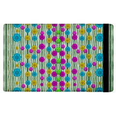 Wood And Flower Trees With Smiles Of Gold Apple iPad 3/4 Flip Case by pepitasart