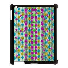 Wood And Flower Trees With Smiles Of Gold Apple Ipad 3/4 Case (black) by pepitasart