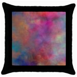 Rainbow Clouds Throw Pillow Case (Black)