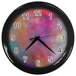 Rainbow Clouds Wall Clock (Black)