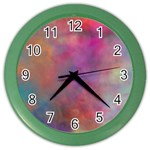 Rainbow Clouds Color Wall Clock