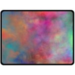 Rainbow Clouds Fleece Blanket (Large)