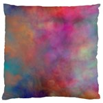 Rainbow Clouds Large Flano Cushion Case (One Side)