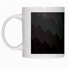 Abstract Pattern Moving Transverse White Mugs by Simbadda