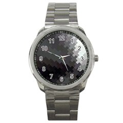 Abstract Pattern Moving Transverse Sport Metal Watch by Simbadda