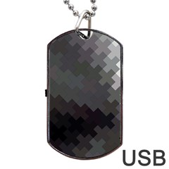Abstract Pattern Moving Transverse Dog Tag Usb Flash (one Side) by Simbadda