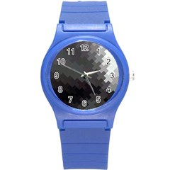 Abstract Pattern Moving Transverse Round Plastic Sport Watch (s) by Simbadda