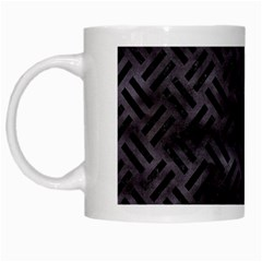 Woven2 Black Marble & Black Watercolor (r) White Mug by trendistuff
