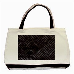 Woven2 Black Marble & Black Watercolor (r) Basic Tote Bag by trendistuff
