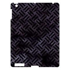 Woven2 Black Marble & Black Watercolor (r) Apple Ipad 3/4 Hardshell Case by trendistuff