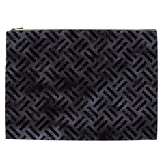 Woven2 Black Marble & Black Watercolor (r) Cosmetic Bag (xxl) by trendistuff