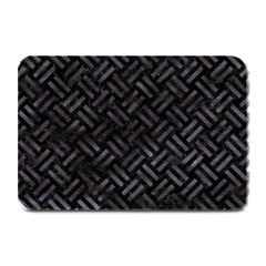 Woven2 Black Marble & Black Watercolor Plate Mat by trendistuff
