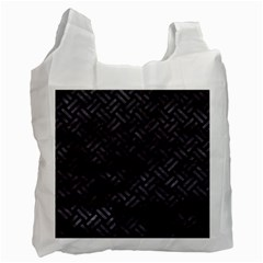 Woven2 Black Marble & Black Watercolor Recycle Bag (one Side) by trendistuff