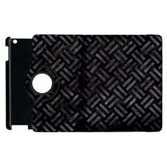 Woven2 Black Marble & Black Watercolor Apple Ipad 3/4 Flip 360 Case by trendistuff
