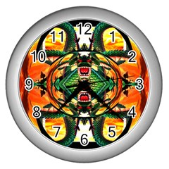 Shenron 2 3d Effect Wall Clocks (silver)  by 3Dbjvprojats