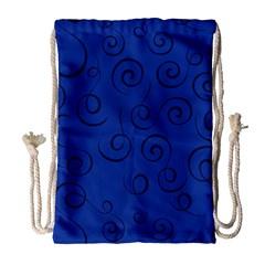 Pattern Drawstring Bag (large) by Valentinaart