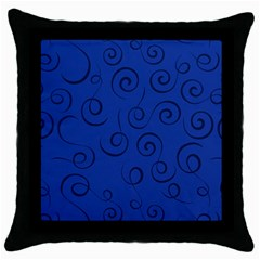 Pattern Throw Pillow Case (black) by Valentinaart