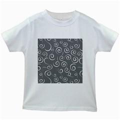Pattern Kids White T Shirts by Valentinaart