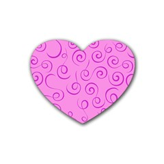Pattern Heart Coaster (4 Pack)  by Valentinaart