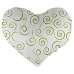 Pattern Large 19  Premium Heart Shape Cushions Front