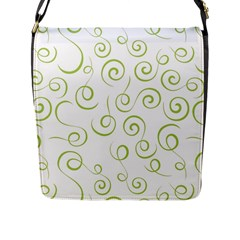 Pattern Flap Messenger Bag (l)  by Valentinaart