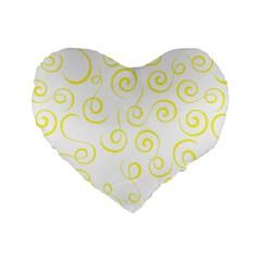 Pattern Standard 16  Premium Flano Heart Shape Cushions by Valentinaart