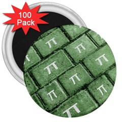 Pi Grunge Style Pattern 3  Magnets (100 Pack) by dflcprints