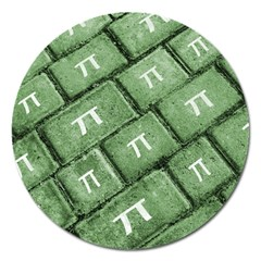 Pi Grunge Style Pattern Magnet 5  (round) by dflcprints