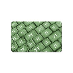 Pi Grunge Style Pattern Magnet (name Card) by dflcprints