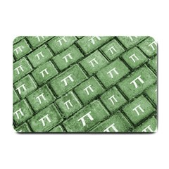 Pi Grunge Style Pattern Small Doormat  by dflcprints
