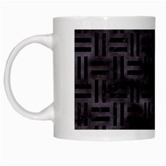 Woven1 Black Marble & Black Watercolor (r) White Mug by trendistuff