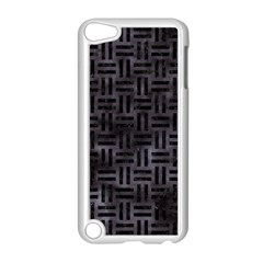 Woven1 Black Marble & Black Watercolor (r) Apple Ipod Touch 5 Case (white) by trendistuff