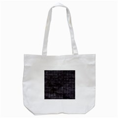 Woven1 Black Marble & Black Watercolor (r) Tote Bag (white) by trendistuff