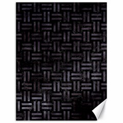 Woven1 Black Marble & Black Watercolor Canvas 18  X 24  by trendistuff