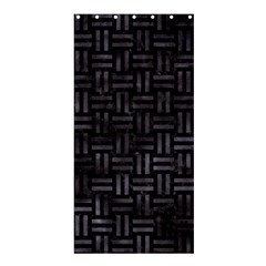 Woven1 Black Marble & Black Watercolor Shower Curtain 36  X 72  (stall) by trendistuff