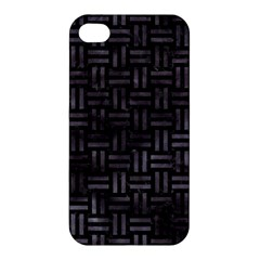Woven1 Black Marble & Black Watercolor Apple Iphone 4/4s Premium Hardshell Case by trendistuff