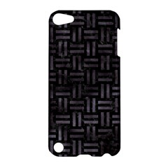 Woven1 Black Marble & Black Watercolor Apple Ipod Touch 5 Hardshell Case by trendistuff