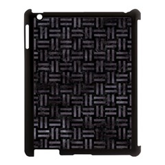 Woven1 Black Marble & Black Watercolor Apple Ipad 3/4 Case (black) by trendistuff