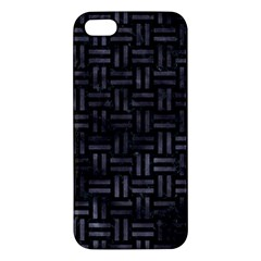 Woven1 Black Marble & Black Watercolor Apple Iphone 5 Premium Hardshell Case by trendistuff