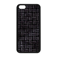 Woven1 Black Marble & Black Watercolor Apple Iphone 5c Seamless Case (black) by trendistuff