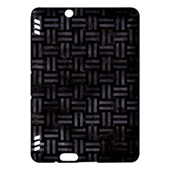Woven1 Black Marble & Black Watercolor Kindle Fire Hdx Hardshell Case by trendistuff