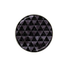 Triangle3 Black Marble & Black Watercolor Hat Clip Ball Marker by trendistuff