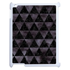 Triangle3 Black Marble & Black Watercolor Apple Ipad 2 Case (white) by trendistuff