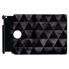 Triangle3 Black Marble & Black Watercolor Apple Ipad 3/4 Flip 360 Case by trendistuff