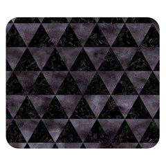 Triangle3 Black Marble & Black Watercolor Double Sided Flano Blanket (small) by trendistuff