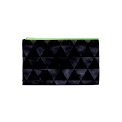 Triangle3 Black Marble & Black Watercolor Cosmetic Bag (xs) by trendistuff