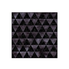 Triangle3 Black Marble & Black Watercolor Satin Bandana Scarf by trendistuff